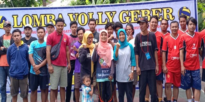 Lomba Volly Geber Antar Pemuda RW se-Kelurahan Pandeyan