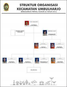 Struktur Organisasi Kecamatan Umbulharjo berdasarkan Perwal No. 62 Tahun 2016