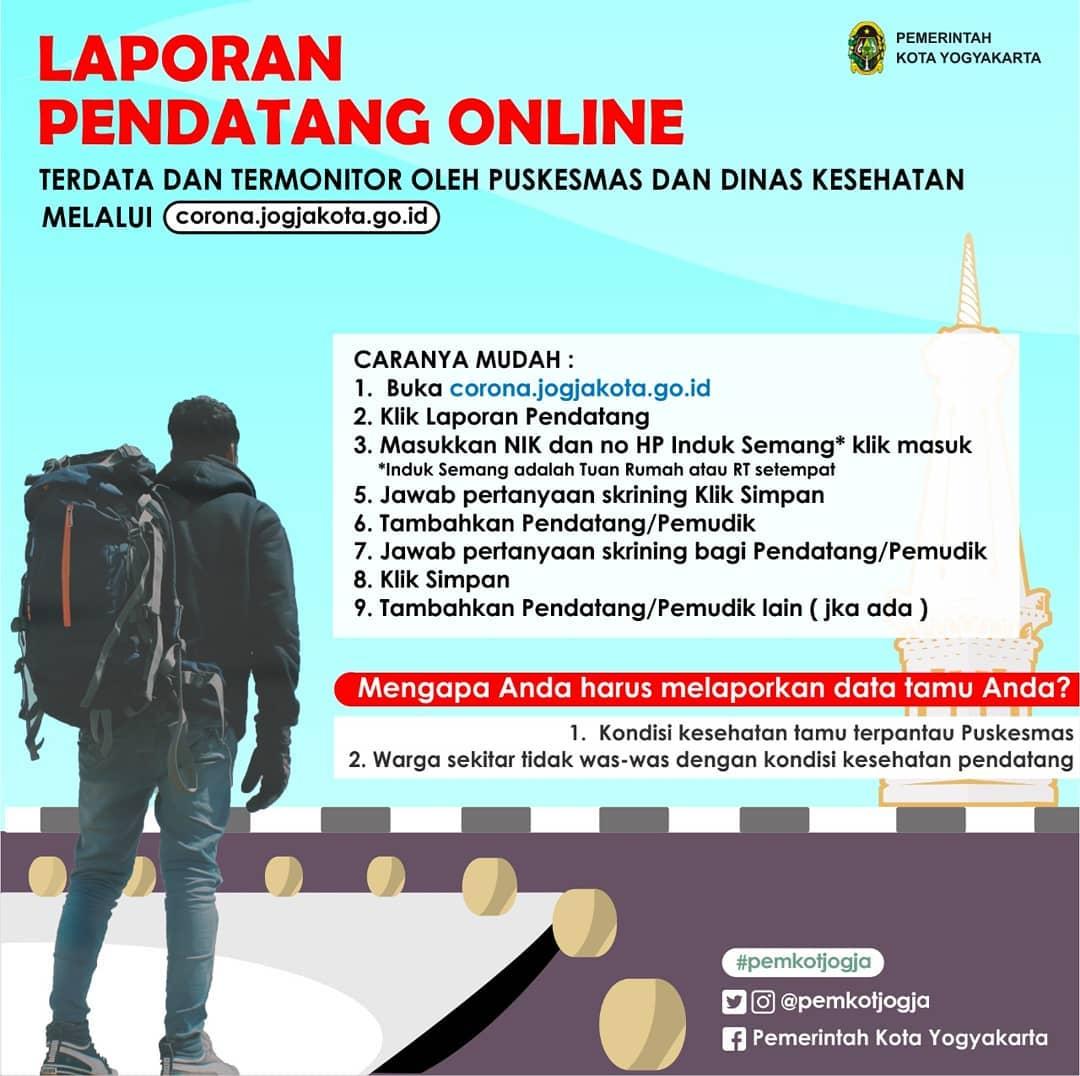 Laporan Pendatang Online di Kota Yogyakarta