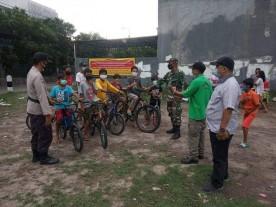 BKO Pol PP Umbulharjo Temukan 9 Orang Tidak Pakai Masker Di Lapangan RT 01 RW 01 Kampung Miliran