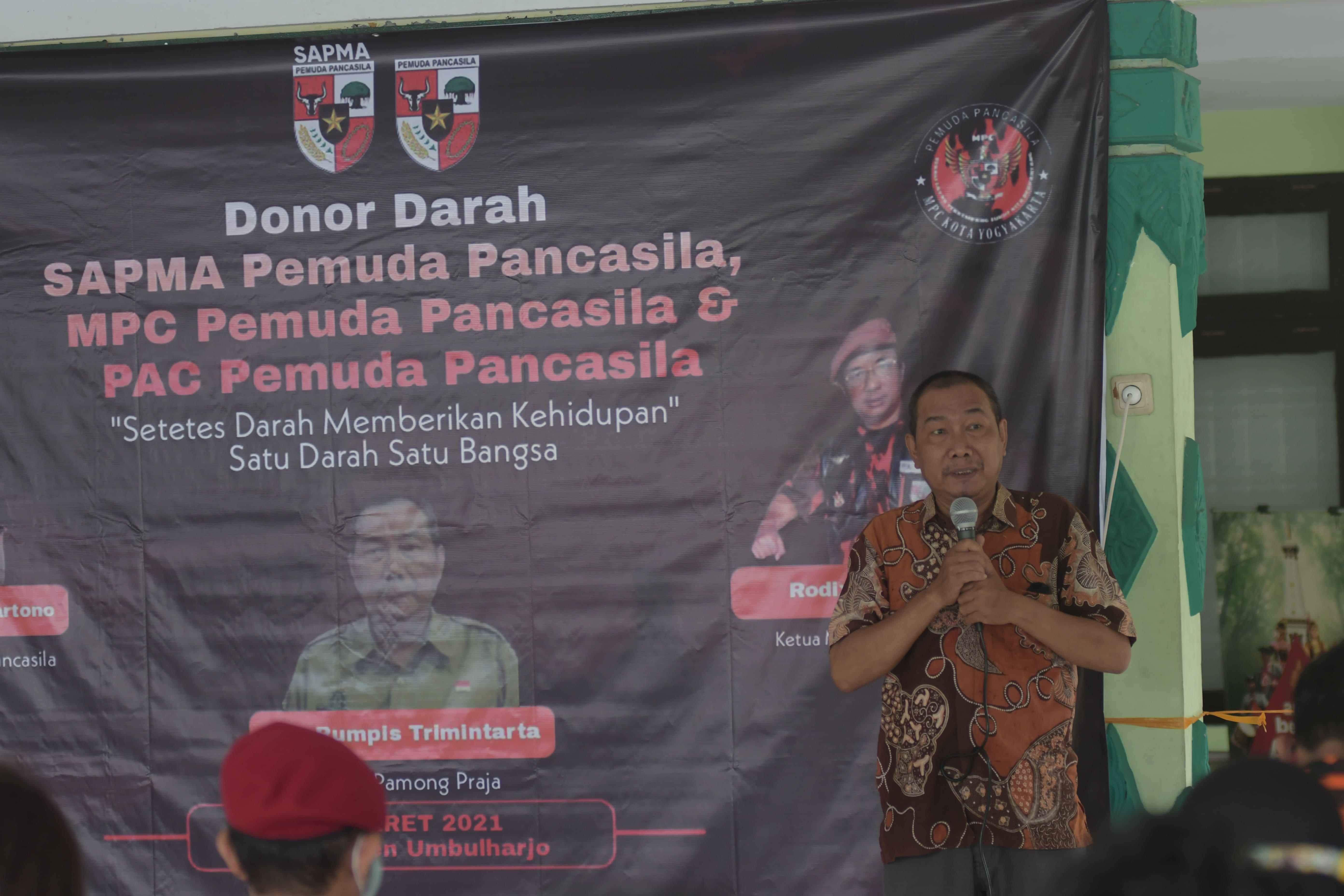 Donor Darah Pemuda Pancasila di  Kemantren Umbulharjo