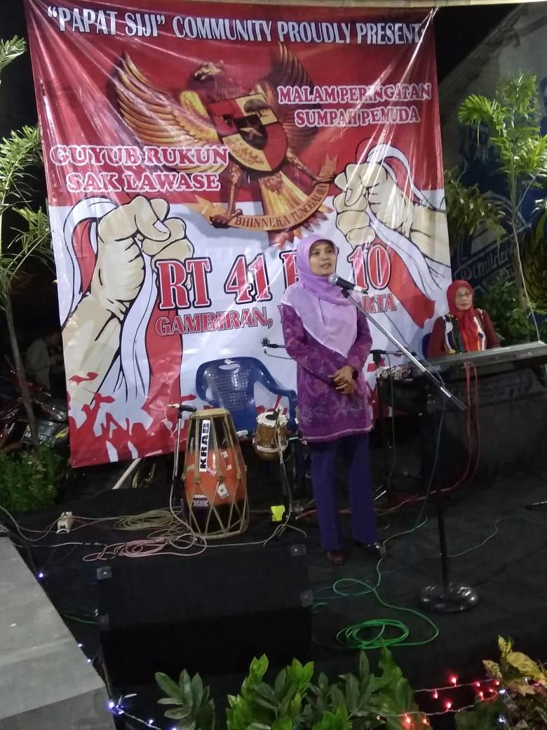 Sambutan Lurah Pandeyan Dalam Acara Peringatan Sumpah Pemuda ke-90 di RW 10, Sabtu, 27-10-2018